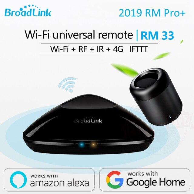2019 Mới Nhất Thông Minh Broadlink RM Pro + RM33 RM mini3 Máy Lau Nhà Tự Động Thông Minh WIFI + IR + RF + 4G đa năng Điều Khiển cho IOS Android