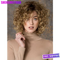 Kinky Afro Curly Wigs Synthetic Women short Black curly Fashion Blonde wig African Wig Short Afro Curly Hair Wig for Black Women