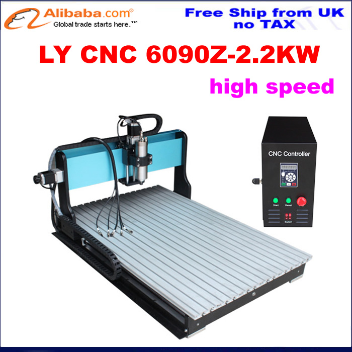 Us 3400 0 No Tax Ship From Uk Factory High Speed Cnc Router 6090 2 2kw Woodworking Machinery With Limit Switch For Wood Metal Aluminum In Wood
