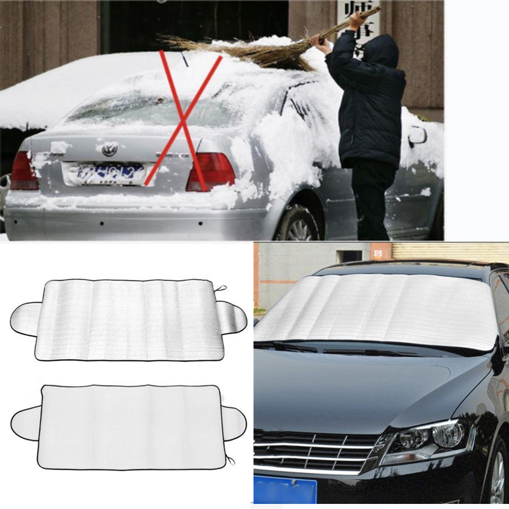 Car Window Film Sun Shade Anti Snow Frost Ice Shield Dust UV Protector Winter Visor Folding Windshield Block Windscreen Cover image