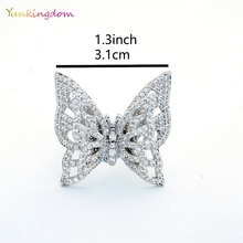 Luxury Butterfly Fine Rings EU/US Women's Wedding Engagement Rings Studded Austrian crystal Gold Color Fashion Ring Shiny Gems