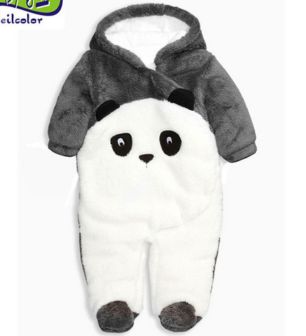 hot 2016 autumn winter wanrm rompers newborns baby boy clothes bebes cartoon penguin thick cotton jumpsuits infant overalls newborn baby girls rompers cotton padded thick winter clothing set cartoon bear infant climb hooded clothes babies boy jumpsuits