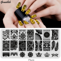 BC-Nail Stamping Plates Plastic Nails Art Stamp Plastic Templates for Gel Polish