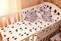¡ Promoción! 6 UNIDS Conjunto Kit de Alta Calidad, ropa de Cama Cuna Cuna Bumper Set Para Bebé Cuna Cuna Ropa De Cama (bumpers + hoja + funda de almohada)