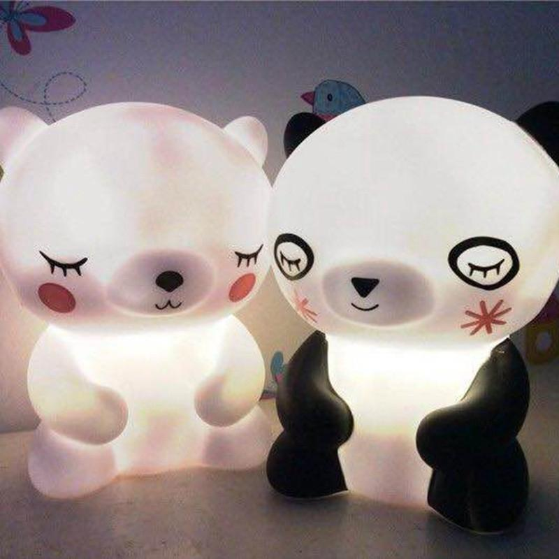 SOLLED Cute Bear Led Night Light Mini Lamps Baby Feeding Night Lamp Children Bedroom Home Decoration