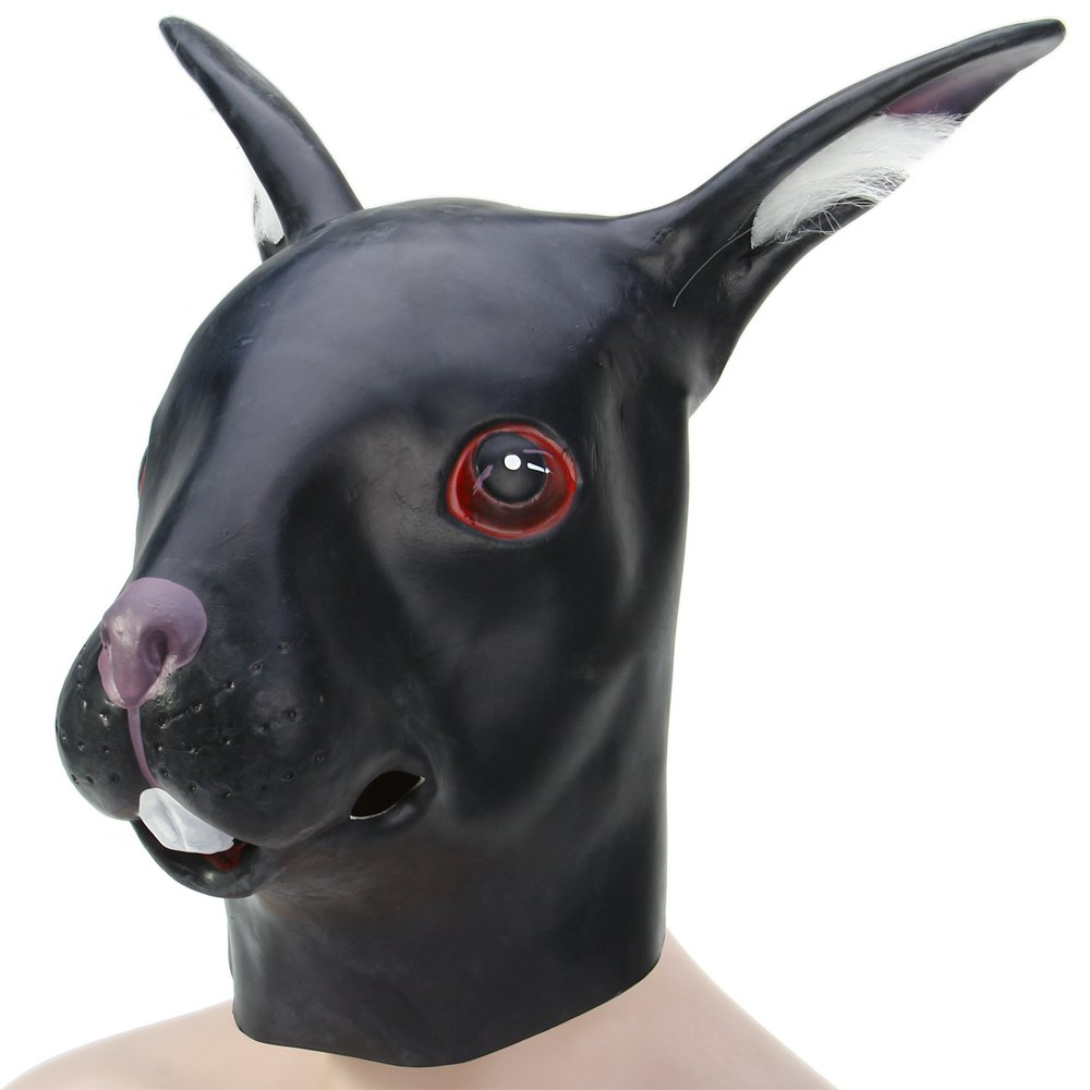 newest black rabbit mask full face scary masks rabbit mask for cute cool halloween masquerade parties - Cool Masks For Halloween