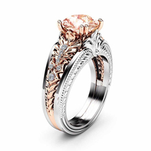14k Rose Gold Diamond Ring for Women Fashion Anel Bizuteria Bague Etoile Agate Gemstone 2019 and Wedding Rings