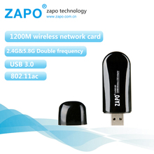 ZAPO Band Mini 1200Mbps Wireless AC Lan Usb 3.0 5G WIFI Adapter Hotspot Internal antenna Network Card For Windows Linux Android