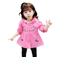 Spring Autumn Trench Coat Baby Girl Warm Outerwear Sport Clothes Infant Baby Jackets Toddler Cotton Cute Clothing 2 6Y