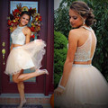 Sexy Two Pieces Rhinestone Beading Short Homecoming Dresses Fashion Open Back Ball Gown Homecoming Gowns For Graduation Dress