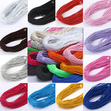5M/Lot High-Elastic 1mm Colorful Round Elastic Band Thread Cord Rope Rubber Stretch DIY Sewing Accessories