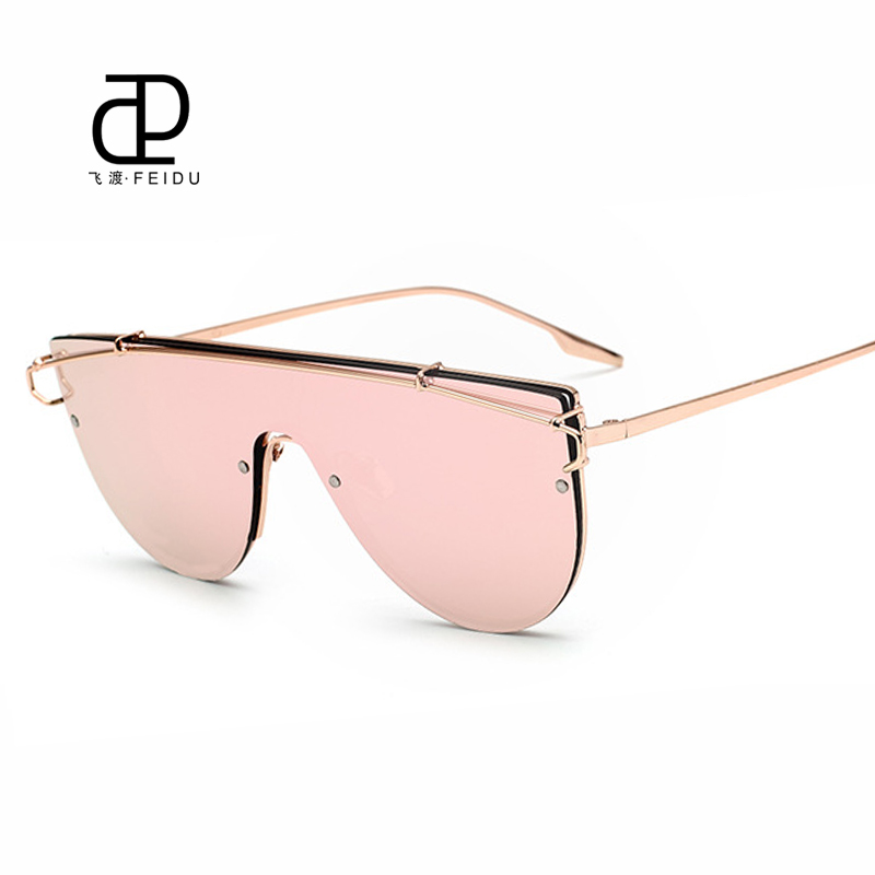 fd2f101f469 FEIDU New Brand Vintage Sunglasses Women Rimless Retro Coating Mirror Sun  Glasses For Women Eyewear Male Oculos De Sol Feminino-in Sunglasses from  Women s ...