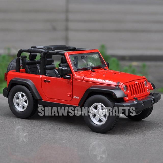 Diecast Model Car Spielzeug 1 24 Jeep Wrangler Rubicon Suv Fahrzeug