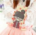 Women long wallet color printing baby girl cartoon fashion female embossing cartoon character money purse feminino carteria 2016