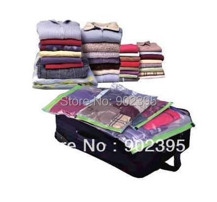 free shipping 10pcs/lot Vacuum  Compression Bags for Travelling/Hand Rolling Vacuum Bag  50*70cm