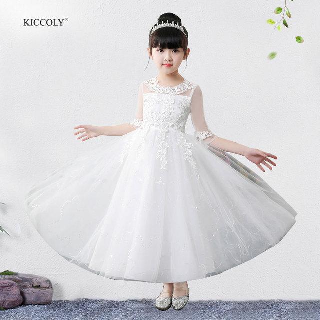 Aliexpress.com : Buy KICCOLY Summer Baby Girl White Christening ...