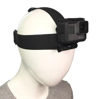 2018 akcesoria do kamer akcji z pałąkiem na głowę opaska na głowę kask uchwyt na GoPro Hero 7 6 5 4 3 + Xiaomi Yi 4 K Sjcam SJ4000 EKEN kamery tanie i dobre opinie NYLON PULUZ Pasy i Uchwyty SOOCOO FR-J001