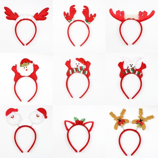christmas supplies decorative hair hoop headdress santa claus party ball head hoop card wholesale activities performance - Santa Activities