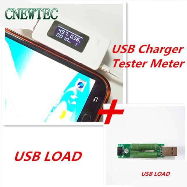 LCD USB Mini Voltage and Current Detector Mobile Power USB Charger Tester Meter + USB mini discharge load resistor