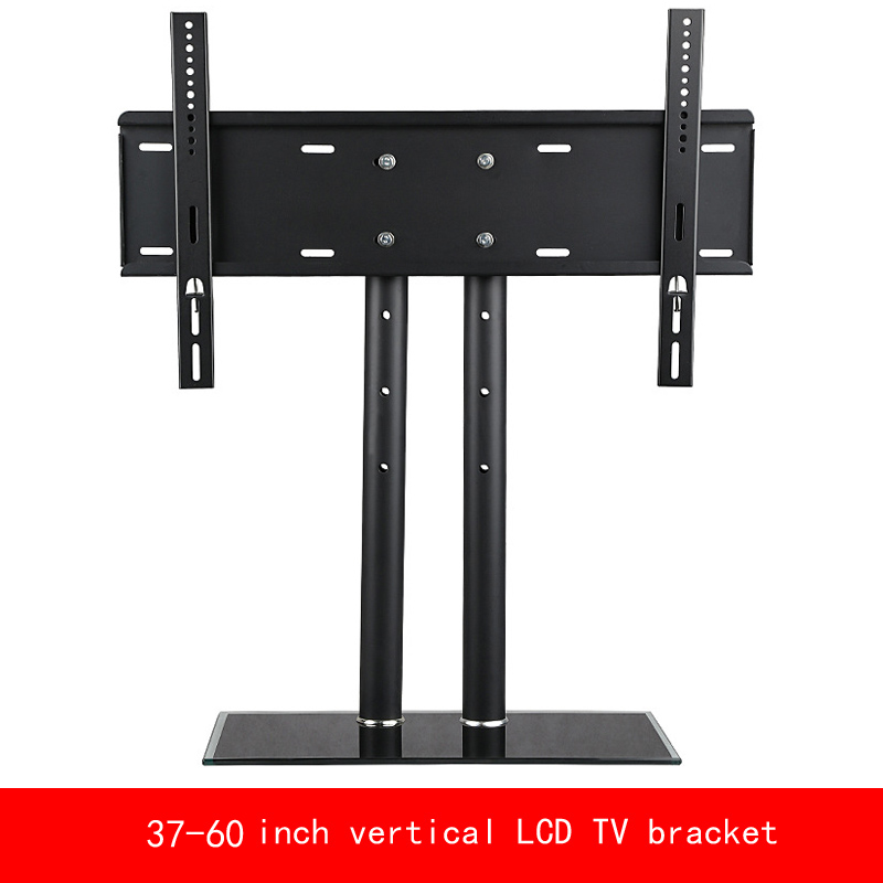 VESA standard 37-60 inch move up or down PC Monitor LCD TV double column bracket vertical Toughened glass base stent vesa standard 14 32 inch move up or down pc monitor plasma lcd tv bracket vertical toughened glass base stent