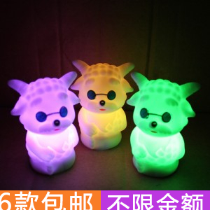 Colorful a1432 sheep small night light led small night light slow goat colorful lights small home light