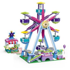 Image 5 - New City Girl Friends Big Garden Villa Model Building Blocks Brick Technic Playmobil Toys For Children Gifts
