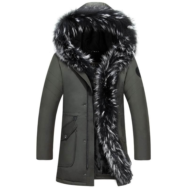 2019 Winter Donsjack Mannen Jas Jas met Bont Kap Verwijderbare Parka Mannen Jas Mannelijke Donsjack Plus Size 4XL 5XL-in Donzen jassen van Mannenkleding op  Groep 3