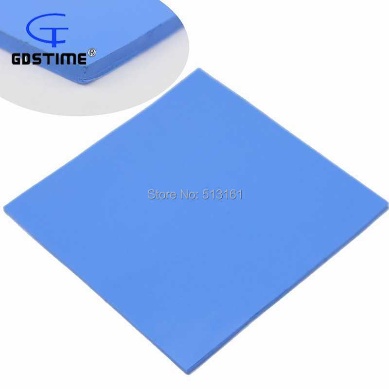 Quality primacy 5PCS/lot 100mm x 4mm Conductive Silicone Blue Thermal Pad