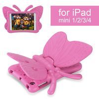 Shockproof Case For IPad Mini 1 2 3 4 Cartoon 3D Butterfly Stand Table Case