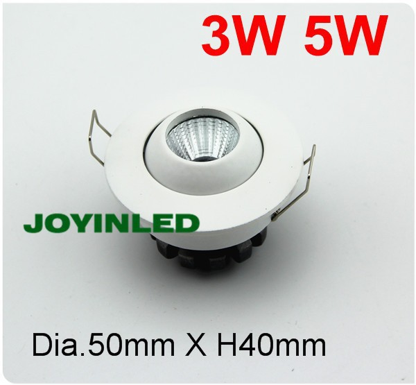 10 шт. мини круглый встраиваемый 3 Вт 5 Вт COB светодиодный потолочный светильник точечные лампы AC85-265V белый корпус для гостиной спальни