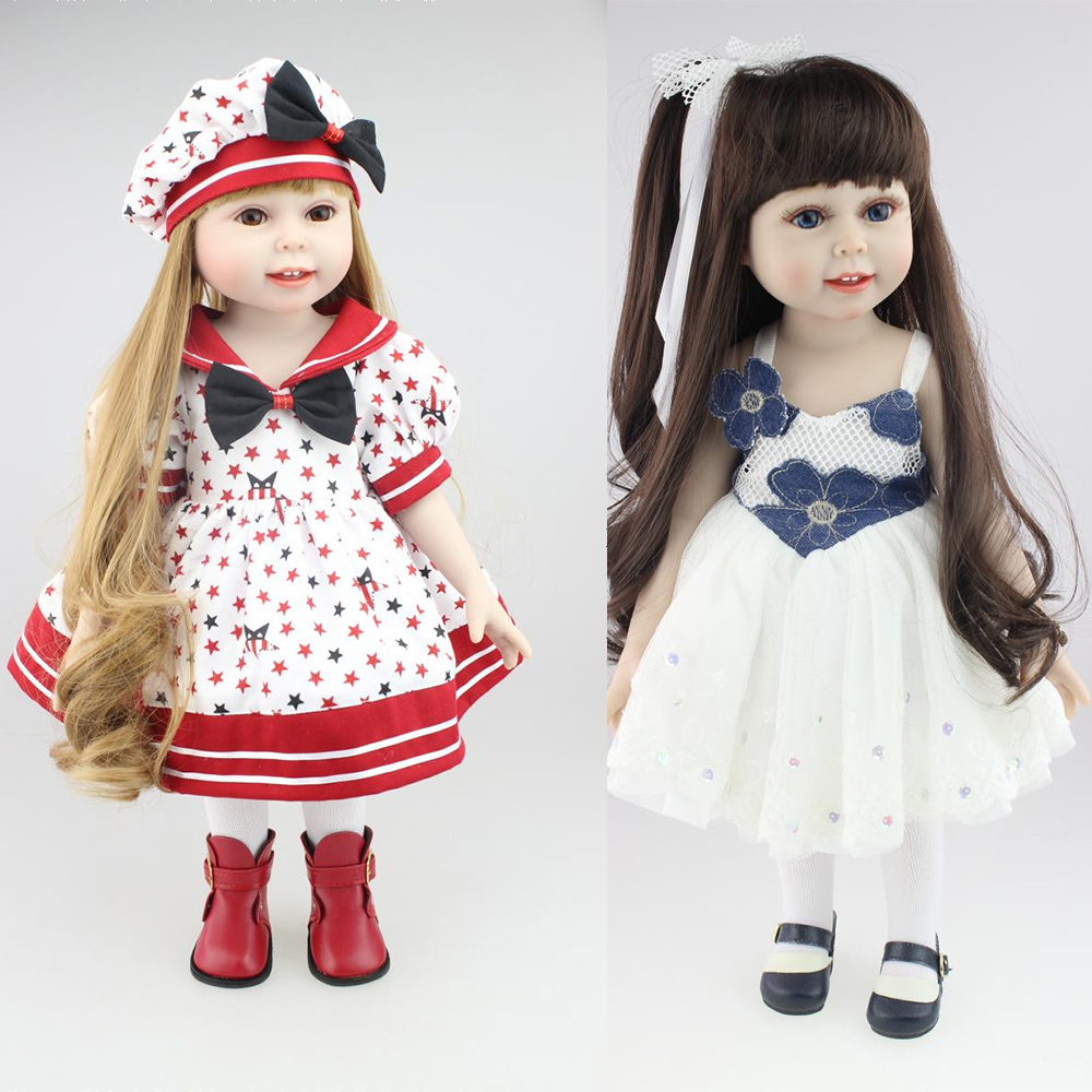 18inch lol princess girl Full vinyl silicone baby doll bebe toys doll adorable kids accompanying babies doll brinquedos18inch lol princess girl Full vinyl silicone baby doll bebe toys doll adorable kids accompanying babies doll brinquedos