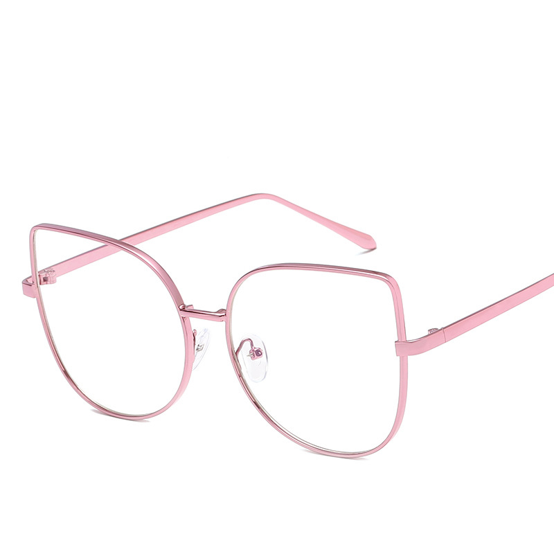 Women Fashion Pink Cat Eye Computer Glasses With Blue Light Lens Hot Sales Metal Myopia Optical Spectacles Glasses Frames 7714CJ