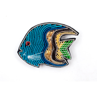 embroidery india silk pin on patches for clothing brooch tropical fish badge designer patches for jeans parches bordados para