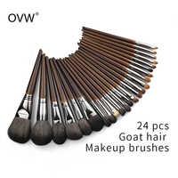 Conjunto de brocha para maquillaje de pelo de cabra Natural OVW Set profesional Kit brocha maquillaje pedzle do makijazu mezcla cepillo difuminador
