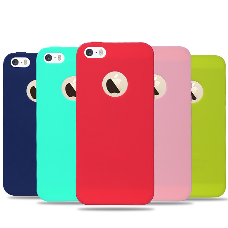 new fashion ultra slim candy colorful case for apple iphone 5 5s se