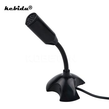 Kebidu 2019 Mini USB Studio mowy mikrofon regulowany Laptop stojak mikrofonowy Mic z uchwytem na pulpit pc wysokiej jakości tanie i dobre opinie Mikrofon komputerowy Pojedyncze Mikrofon Blat Mikrofon pojemnościowy Dookólna Przewodowy USB Studio Speech Microphone