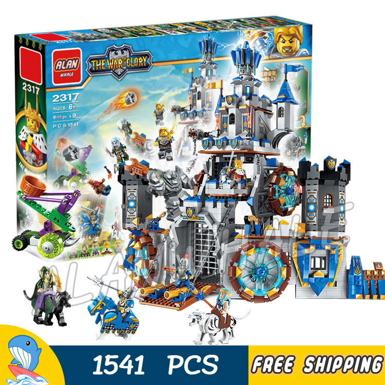 1541pcs 2in1 The War Human VS Elves Knights Castle Attack Stormwind Tank Model Building Blocks Toys Bricks Compatible with lego single sale medieval castle knights dragon knights the hobbits lord of the rings figures with armor building blocks brick toys