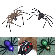 Foldable Glowing Spider Black Multi-colour Style Tricky Toy for Halloween Festival Party Accessories Horror Decor