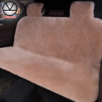 KAWOSEN Australian Sheepskin Fur Rear Seat Cover, Warm Universal Car Seat Cover, 100% Wool Car Seat Covers Auto Cushion WRSP01