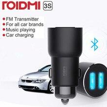 Roidmi carregador para carros 3s bluetooth 5v 3.4a, reprodutor de música, fm, aplicativo inteligente para iphone e android mp3 player