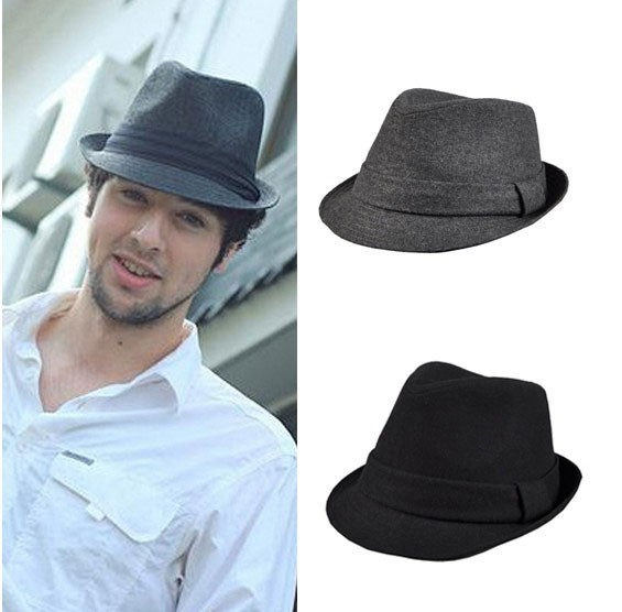 Men Women Wool Fedora Trilby Cap Hat Wedding Panama Hat Unisex H203 ... 43804c33d78