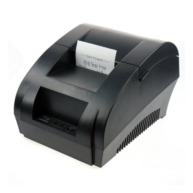 Prix pour Livraison gratuite noir USB Port 58mm Reçu thermique imprimante POS imprimante à faible bruit. imprimante thermique