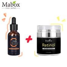 Mabox Витамин С отбеливающая сыворотка+ ретинол 2.5% увлажнитель для лица крем