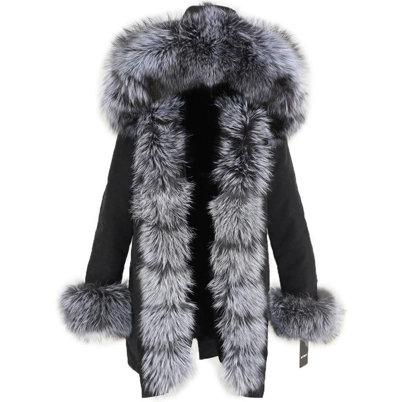 OFTBUY Waterproof Long Parka Winter Jacket Women Real Fur Coat Natural Fox Fur Collar Hood Thick Warm Streetwear Detachable New 107