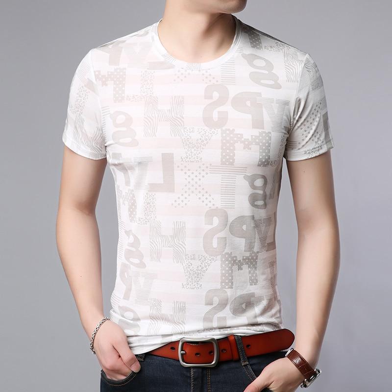 2019 New Fashion Brand T Shirt For Men White O Neck Trending Tops Street Wear Summer Print Cool Short Sleeve Tee Men Clothes