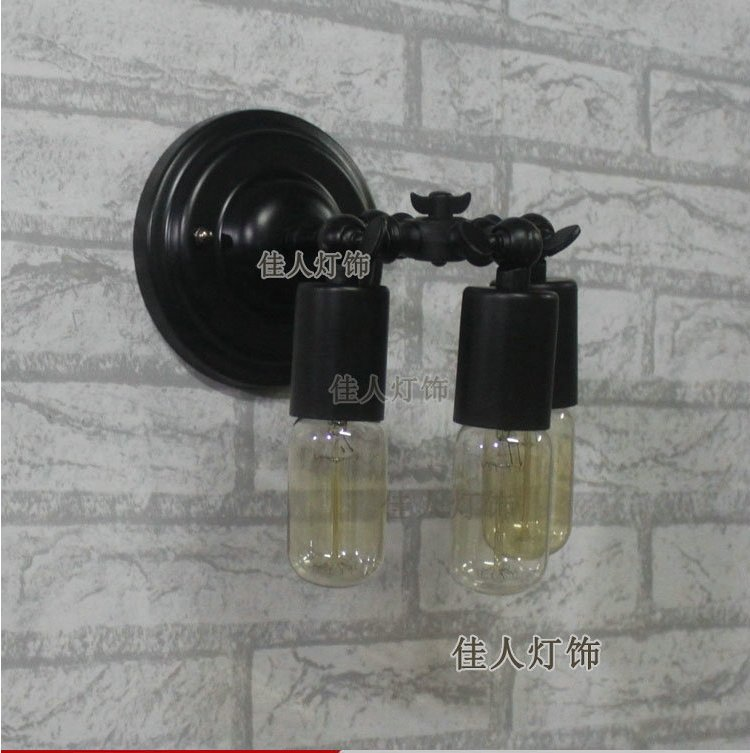 ФОТО Ndustrial Retro EDISON VINTAGE WALL LIGHT Iron Wall Lamp LW0006 led lamp e27