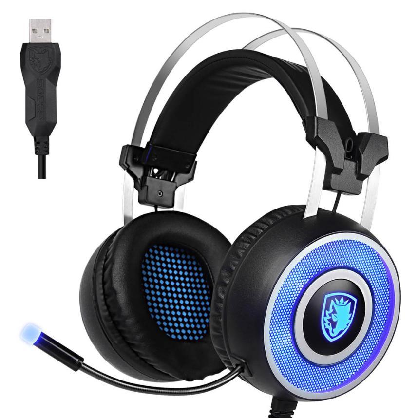 ФОТО SADES A9 Stereo Surround Gaming Headset Headband MicHeadphone