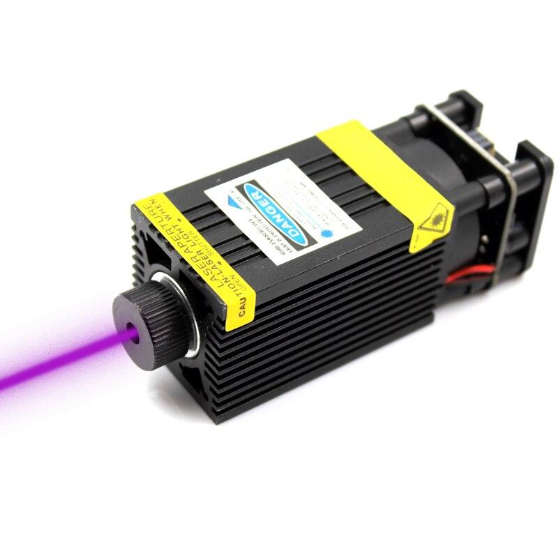 Oxlasers 500 mW 405nm 12 V 5A focalisables Laser Module Laser Graveur partie Laser Tête avec TTL PWM contrôle UV LASERS livraison gratuite