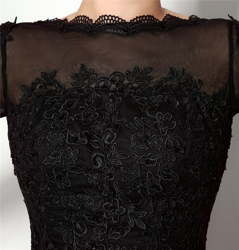 51c4872f7c3eb Forevergracedress Black Long Sleeves Evening Dress Sheath Lace Applique  Backless Handmade Formal Party Gown Plus Size -in Evening Dresses from ...