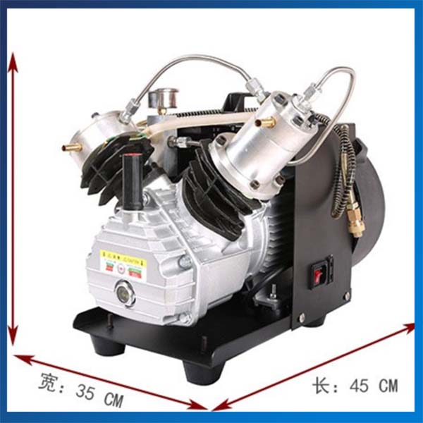 2 2KW Double Cylinder PCP Electric Air Pump High Pressure Paintball Air Compressor 220V 50HZ